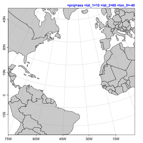 map projections in oce